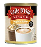 Caffe D'Vita English Toffee Cappuccino Mix, 16-Ounce Canisters (Pack of 6)