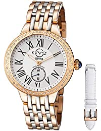 by Gevril Astor Womens Diamond Swiss Quartz Two Tone Rose Gold and Stainless Steel Bracelet Watch, (Model: 9106)