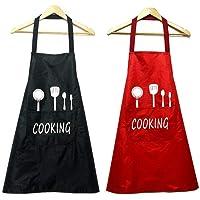 Sprießen 2pcs Unisex Chefs Delantal de Cocina Impermeable