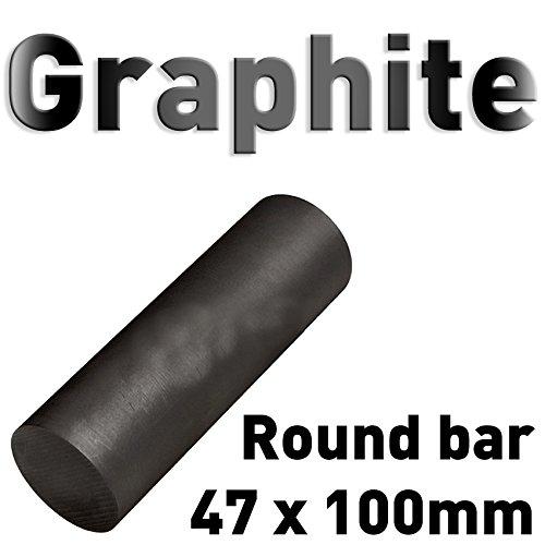 Graphit Rundmaterial 47mm x 100mm lang Zylinder Elektrode Stab Kohlenstoff 4' Polymet - Reine Metalle.