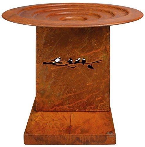 Esschert Design Bird Bath on Feet Rust, Small
