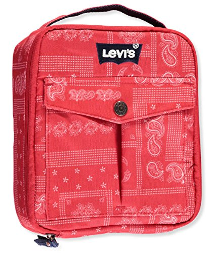 """Price comparison product image Levi's """"Printed Paisley"""" Insulated Lunchbox - red,  one size"""