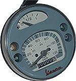 RS Vintage Parts RSV-B018FVKPE6-01411 Motorcycle Parts A87 Speedometer / Tacho Vespa LML PX Lusso 80, 125, 150, 200, 120Km/H/80 Mph Grey
