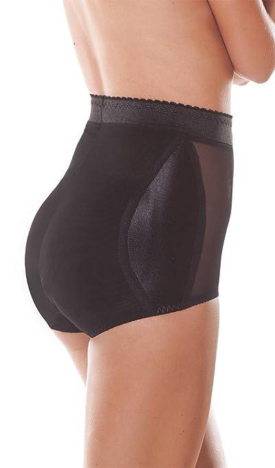 ee8bf26ae5e Bubbles Bodywear Retro Diamond High Rise Padded Panty Black XS  Amazon.ca   Clothing   Accessories
