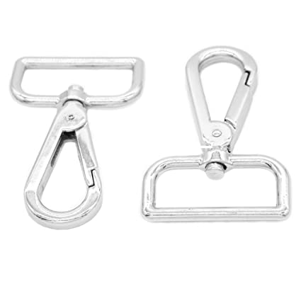 FoRapid Metal Swivel Lobster Clasp Spring Loaded 1.25 quot  Webbing Snap  Hook Clip-Purse Bag 902ec163d9837