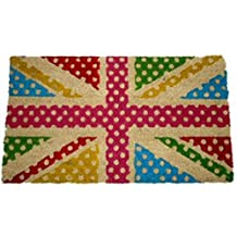 Flags Of The World Door Mat Floor Mat - Union Jack, Retro Style (28 x 16 inches)