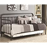 Coaster 300398 Home Furnishings Daybed with Trundle, Twin, Dark Bronze