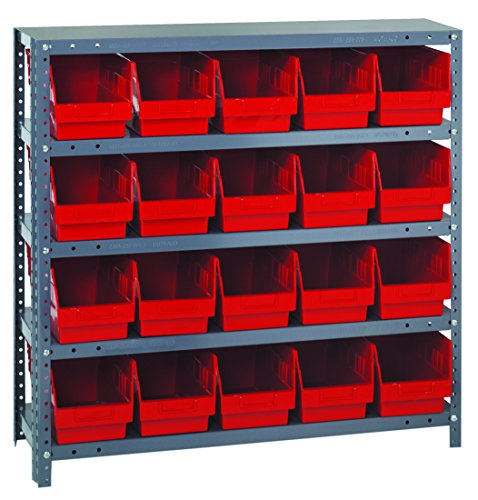 Quantum Storage Systems 1239-202RD Store More Shelf and Bin Unit, 12'' D x 36'' W x 39'' H, Red by Quantum Storage Systems