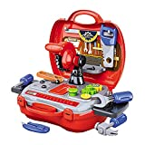 Kennedy Pretend Play Tool Kit Set with Carry Case Great Christams Toy Gifts for Boys Girls Kids 3...