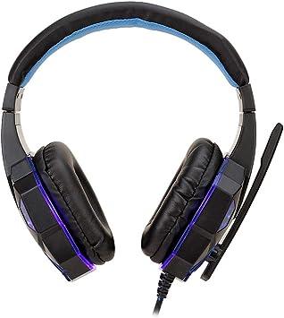 WRISCG LED Auriculares Gaming para PS4 Xbox Nintendo Switch, Cascos Gaming con Sonido Envolvente y Reducción de Ruido. Surround Bass Sound Professional con micrófono y luz LED,C: Amazon.es: Deportes y aire libre