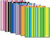 Striped Poly Portfolio 48 pcs SKU# 1931451MA