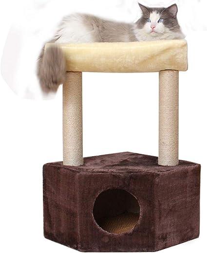 LXHONG Torre para Gatos con Mesa De Descanso, Torre De ...