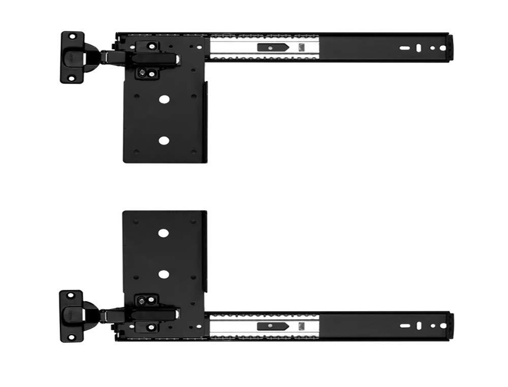 Kv Pivot Door Slide Hardware Inset Application Self Closing 12 1/8'' Slide (Kit) Black