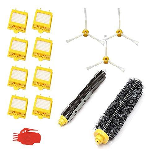 smartide 700Series Replacment Brosse latérale Kit filtre pour iRobot Roomba, contient 8pièces, Lot de 3, 1Coups de pinceau, 1Pinceaux Brosse flexible et 1outil de nettoyage