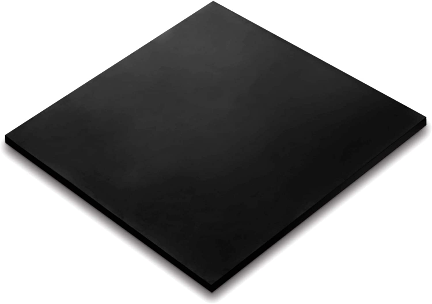 Rubber Sheet, Heavy Duty, High Grade 60A, Neoprene Black, 12x12-Inch by 1/4-inch Thick (+/- 5%) for Plumbing, Gaskets DIY Material, Supports, Leveling, Sealing, Bumpers, Protection, Abrasion, Flooring
