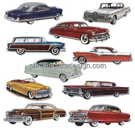 1950s Classic Cars cumpleaños ~ Edible imagen Pastel/Cupcake ...