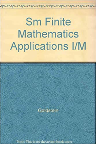 Sm Finite Mathematics Applications I/M