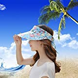 Sun Hats Women Wide Brim Cap UV Protection 2 in 1