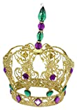 "Renaissance 2000 8"" Mardi Gras Iron Plate Crown Table Piece 8"""