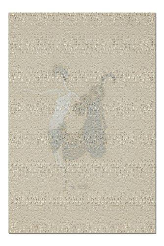 Paris Qui Brille costume design Vintage Poster (artist: Zig) France c. 1931 (20x30 Premium 1000 Piece Jigsaw Puzzle, Made in USA!) (Design Brillen)