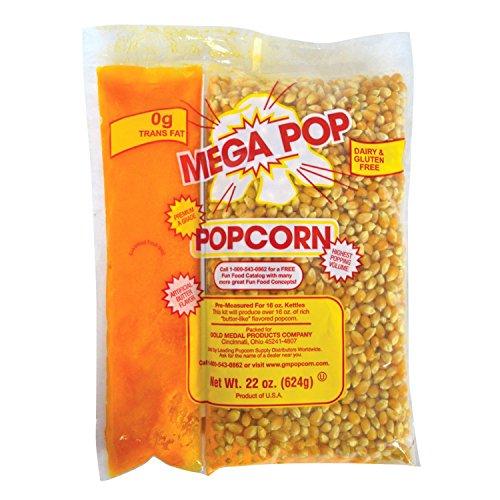 Gold Medal Mega Pop Popcorn, Oil and Salt Kits - 16 oz. - 20 ct. case