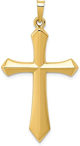 14k Yellow Gold Gold Polished Small Passion Crucifix Pendant