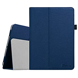 Fintie iPad Air 2 Case - Premium Vegan Leather Slim Fit Folio Case Smart Stand Protective Cover Auto Sleep/Wake Feature for Apple iPad Air 2 2014 Model, Navy