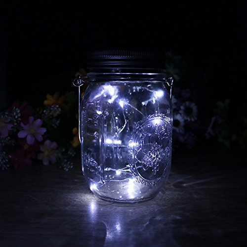 GreenDream Solar mason Jar Light,10 LED Solar powered Fair String Light Lid Insert with Mason Jar for Garden Patio Decoration Outdoor Using (1 pack(mason Jar included)) (Gd 1 Light Outdoor Fixture)