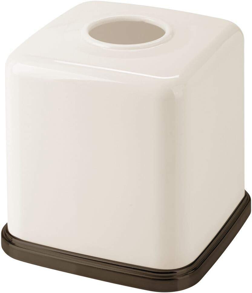 Modernas y elegantes cajas para pa/ñuelos de papel ideales como fundas blanco//dorado rojizo Pr/áctico dispensador de pa/ñuelos para el ba/ño o la oficina mDesign Fundas para cajas de pa/ñuelos
