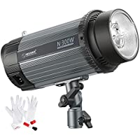 Neewer 300W 5600K Photo Studio Strobe Flash Light Monolight with Modeling Lamp and 3-IN-1 Cleaning Kit, Aluminium Alloy Construction, for Indoor Studio Location Model and Portrait Photography (N-300W)