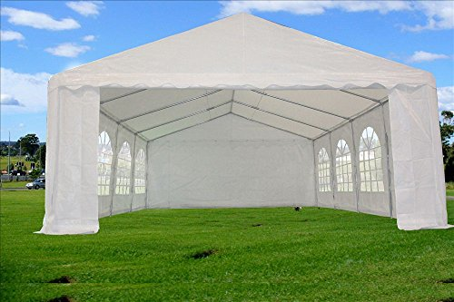 26×16-PE-Tent-White-Heavy-Duty-Wedding- & 26u0027x16u2032 PE Tent White u2013 Heavy Duty Wedding Party Canopy Carport PE ...