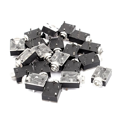 - uxcell 20 Pcs PCB Panel Mount 5 Pin Female 3.5mm Earphone Audio Jack Socket