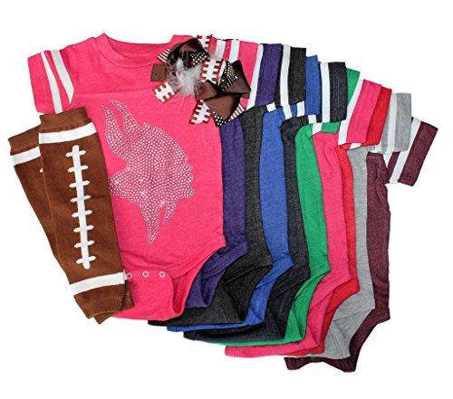Rhinestone Baby Girls Vikings Football Outfit 12 mo (Viking Outfit)
