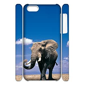 LJF phone case C-Y-F-CASE DIY Design Cute Wild Elephant Animal Pattern Phone Case For ipod touch 4