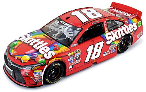 autographed-kyle-busch-2016-skittles-indianapolis-brickyard-win-124-scale-diecast-car-includes-certi