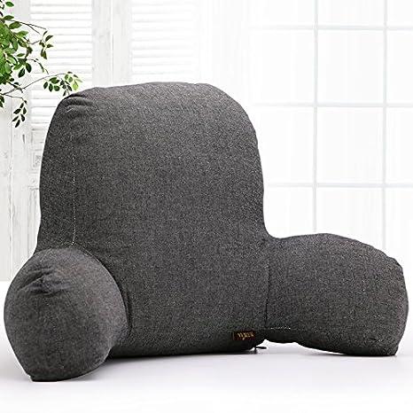 Almohada de lectura clásica, cojín lumbar, cojín de apoyo para sofá, coche, silla de oficina, con inserto de algodón T-Shape y funda extraíble, de ...