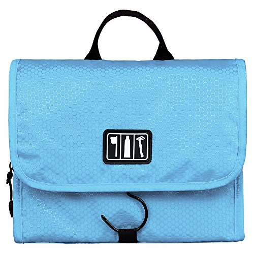 BAGSMART Folding Hanging Toiletry Bag Roll up Makeup Organizer Cosmetic Bag...