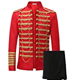 Mens Luxury Slim Fit Stylish Suit Blazer Jacket & Trousers Set 2-Piece