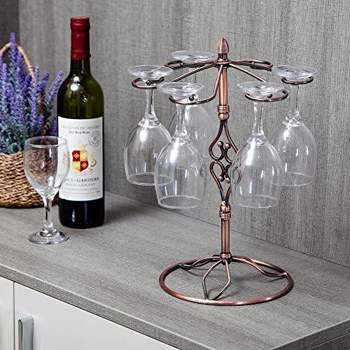 WINE FLUTE GLASS Freestanding Silver DRYING RACK Kitchen Stand Barware Display