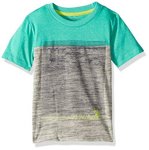 U.S. Polo Assn. Boys' Little Short Sleeve Graphic Print T-Shirt, Marled Tracksuit ()