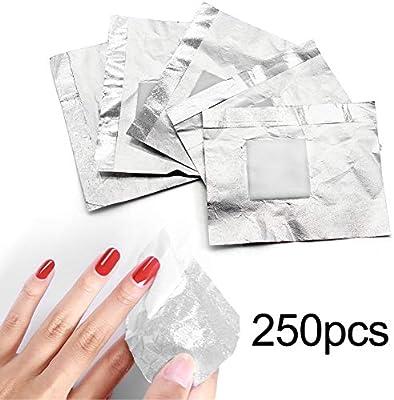250 unidades ultra finas de papel de aluminio quitaesmalte con ...