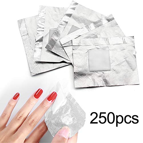 Foil Nail Wraps Soak Off Nail Polish Remover Aluminum Nail Foil Wraps with Cotton Pad for Gel Polish Acrylic Dip Nails Removal
