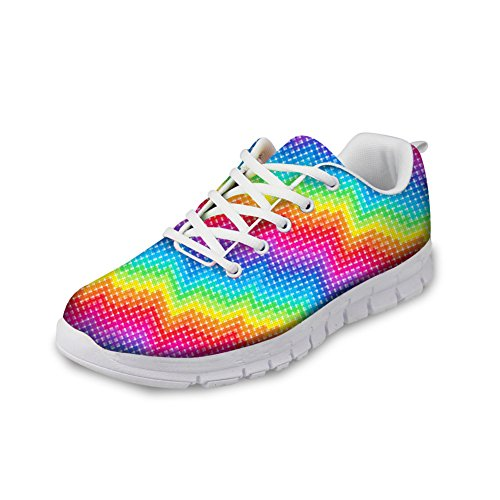 Color CHAQLIN 45 Women Running Pattern Men Size for 1 Bright Shoes 35 5FqHBwyF7p