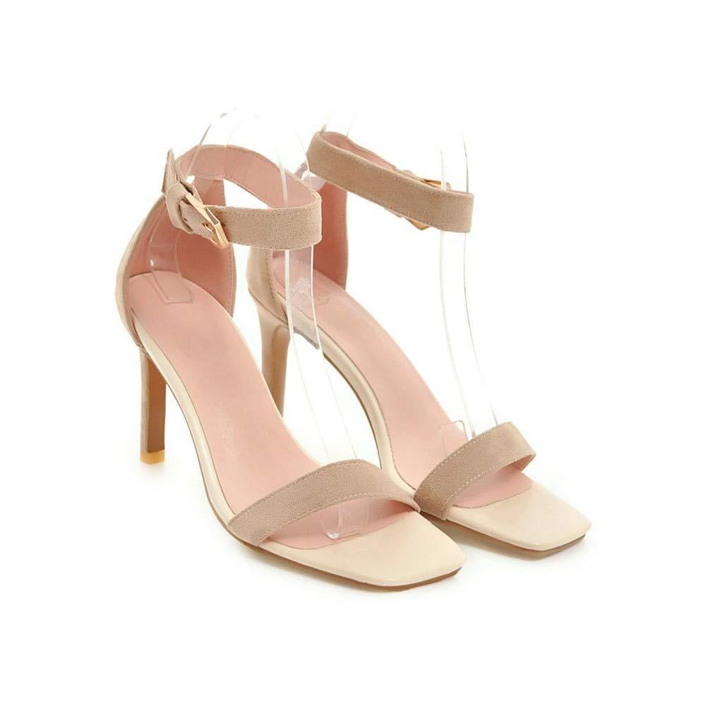 MENGLTX Talon Aiguille Talons Hauts Sandales Women Sandals Simple Buckle Summer Shoes Elegant Prom Wedding Shoes High Heels Shoes Woman