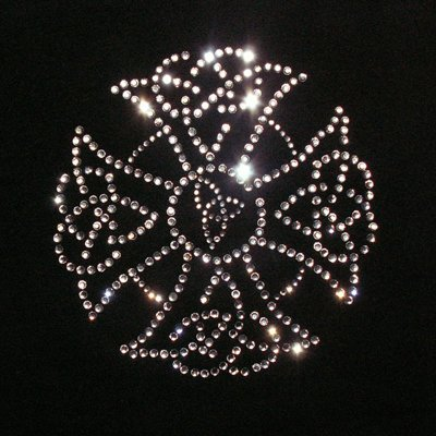 Celtic Cross Limerick Iron On Rhinestone Crystal Transfer by Jubilee Rhinestones