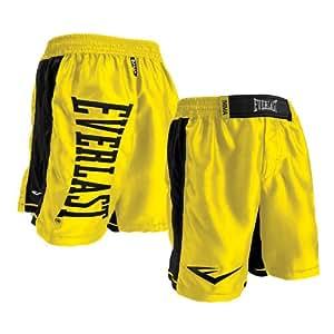 Everlast Omnistrike MMA Fight Boardshorts (Yellow-Black, 42)