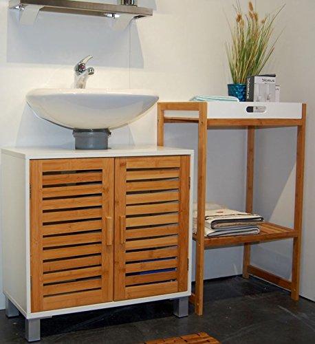 Badschrank bambus for Badschrank waschtisch