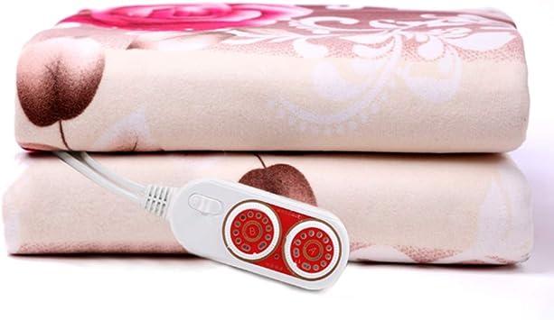 Manta eléctrica Termostato doble de seguridad Manta de calefacción doméstica espesada 180cmx200cm Doble control doble: Amazon.es: Salud y cuidado personal