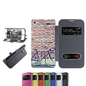 caselabdesigns Flip Carcasa Para Sony Xperia Z3funda Wand Bicy D6683negro–Funda plegable protectora de Negro