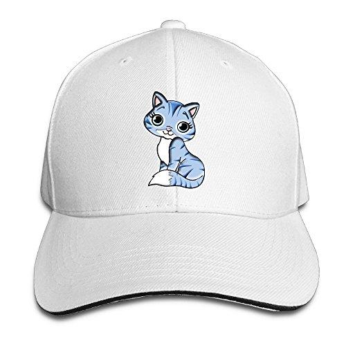 Riokk Az Women&Men Sandwich Caps Trucker Baseball Hat Kitty Cute